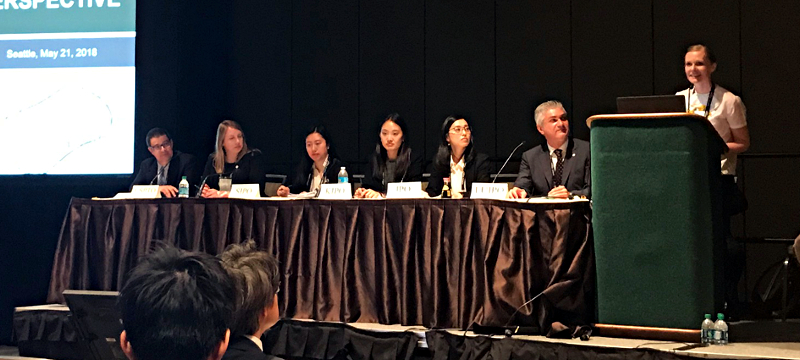 Klaudia Błach-Morysińska  as a speaker at TM5 session during INTA 140 conference in Seattle