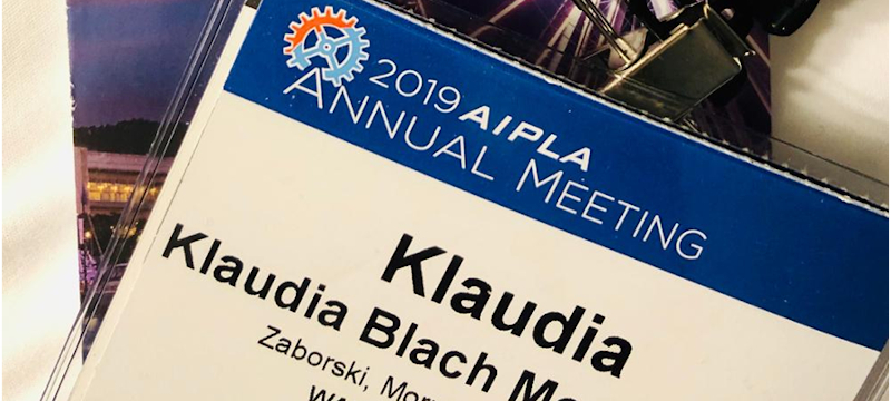 Zaborski, Morysiński at 2019 AIPLA Annual Meeting in Washington D.C.