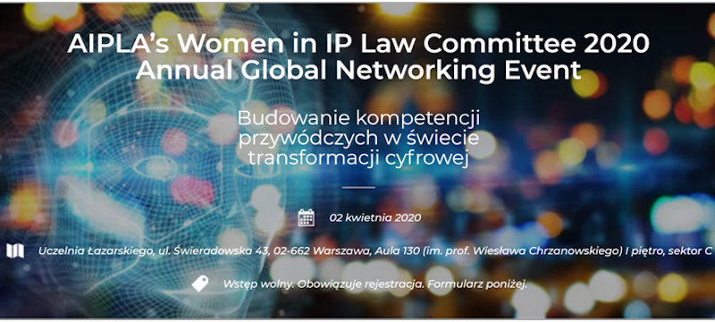 AIPLA'sWomen in IP Law Committee 2020 Annual Global Networking Event